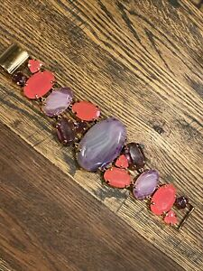 Kate Spade Set in Stone Bracelet NWT SOLD OUT Rare Find! Pink & Purple Agate