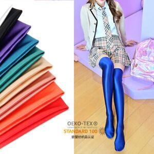 Sexy Women Glossy Stocking Lycra Spandex Over Knee Shiny Opaque Thigh High Socks