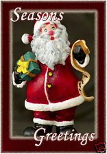 "Season Greeting Santa Clause Fridge Magnet 3.25""x2.25"" Collectibles (PMD11010)"