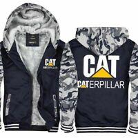 Winter Warm Caterpillar Power Hoodie Thick Jacket Sweatshirt Fleece Hooded Coat