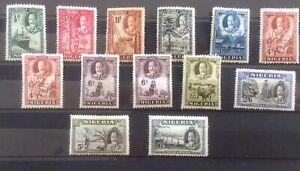 Nigeria - 1936 Sg34-40 Fine Mint Lightly Hinged.