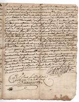 1764  KING LOUIS XV Notary signed manuscript document 3p DAMAGED autograph