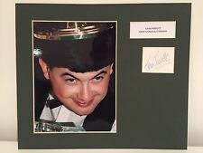 RARE John Parrot Snooker Signed Photo Display + COA AUTOGRAPH WORLD CHAMPION