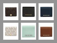 Michael Kors Jet Set Travel Flap Card Holder Saffiano Leather Case Wallet NEW