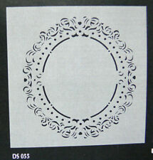 Filigree Frame Oval STENCIL 165-175mm Outside & 120-110mm Inside C88CollectionL1