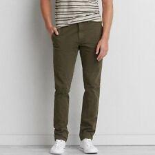Mens Eddie Bauer Bauers Jeans Trousers Khaki Green W 44 x 36 L KA7