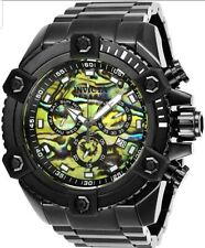 Invicta Reserve Grand Octane Watch Sports Car Black Gloss Yellow Abalone Dial