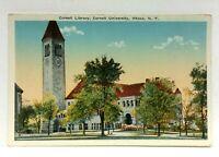 Ithaca New York Cornell University Library Vintage Postcard