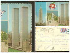 Post card New York Empire State Building, Statue of Liberty, World Trade Center