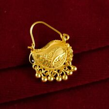 Gold Plated Nath Wedding Jewelry Bollywood Designer 18K Traditional Nose Rings