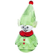 Swarovski Santa's Helper, Rocking Elf Green Crystal Figurine MIB - 5059034
