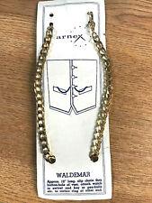 Arnex Vintage Único Waldemar Color Dorado Reloj de Bolsillo Cadena 12in. Largo