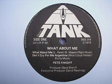 "PETE KNIGHT What About Me UK TANK 1979 COUNTRY EP 7"" Hank Williams Cover etc"