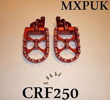 CRF250 2018 FOOTPEGS MXPUK EXTRA WIDE FOOT PEGS CRF 250 2017 IN RED  (560)