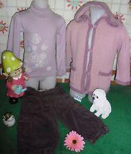 vêtements occasion fille 5 ans,gilet,sous-pull,corsaire velours OKAIDI