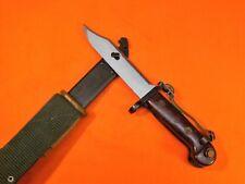 ROMANAIN TYPE II WASR KNIFE BLADE - BAYONET & SCABBARD WITH LEATHER / WEB FROG