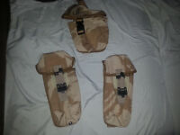 2x BRITISH / CANDIAN Army  Ammo / magazine Pouches + Medical pouch lot of 3
