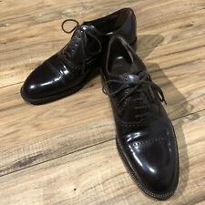 Bally Men's Amado Leather Dress Shoes Dark Brown Made In Switzerland Size 8 EEE