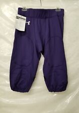 Under Armour Men's Football Pants W/ Purple& White Accents Size Large