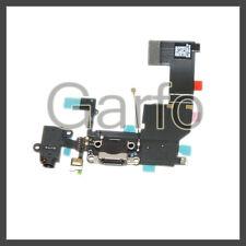 Flex Dock Conector Carga Datos Microfono Auricular Jack para iPhone 5C Negro