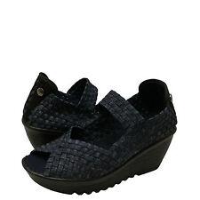 Women's Shoes Bernie Mev. Halle Woven Open Toe Casual Wedges Jeans *New*