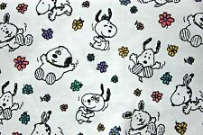 "Baby Snoopy Fabric Lightweight Fleece Vintage 1 1/4 yard X 60"" Remnant"