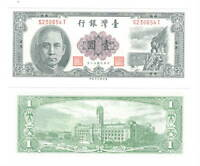 UNC TAIWAN $1 Dollar / Yuan (1961) P-1971b Banknotes Paper Money Sun Yat Sen