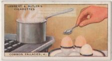 Cracking Soft Boiled Egg Shell To Stop Cooking Is A Myth 1920s Trade Ad Card