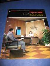 1972 Pyr-A-Larm Low Voltage Fire & Smoke Alarm Catalog Baker inc.