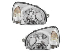 Headlights Headlamps for 01 - 03 Santa Fe Left Right Replacement Set