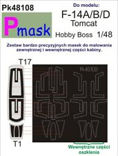 F-14 A/B/D TOMCAT CANOPY & WHEELS PAINTING MASK for HOBBY BOSS #48108 PMASK