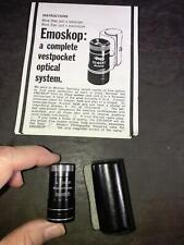 BC) EMOSKOP Emo Seibert Wetzlar Emoskop Vestpocket Optical System with Paper Cas