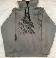 NIKE THERMA DRI-FIT PULLOVER TRAINING HOODIE BLACK GRAY  MEN'S SIZE Small