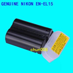 Genuine Nikon EN-EL15 Battery for D7100 D7200 D610 D800 D810 Z7 D850 D750 MH-25