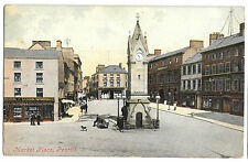 Market Place, Penrith PPC 1906 PMK, Shows Ironmonger, George Hotel & Cross