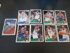ancien cartes panini NBA basket Dallas Mavericks fleer 94 95 collection vintage