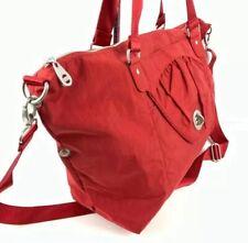 Baggallini Tote Bag Red Nylon Shoulder Bag Large Slip Over Carry On New
