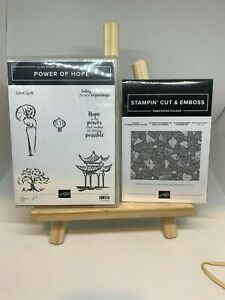 Stampin up POWER OF HOPE stamp and embossing folder
