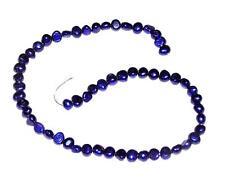 "BEADS 14"" Strand Genuine Freshwater Pearls 6-8mm BLUE PURPLE"