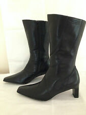 SEXY BNWOT TAMARIS BLACK MID CALF BOOTS UK 3 EUR 36