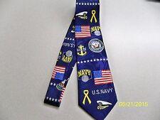 U.S.N., U.S Navy, sailor, Naval, Officer, Enlisted Military Men's necktie #2 NEW