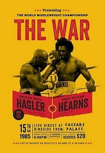 MARVIN HAGLER vs THOMAS HEARNS 8X10 PHOTO BOXING POSTER PICTURE THE WAR