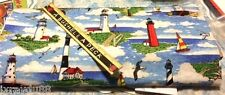 LIGHTHOUSE  SAILBOAT 100% COTTON FABRIC NEW QUILT BTY NAUTICAL