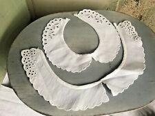 Vintage White Collars 2pc White Cotton Peter Pan Collars Vintage Period Costume