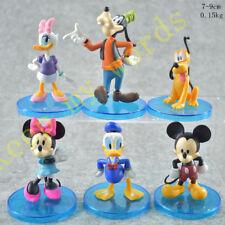 6 Pcs Disney PVC Figure Cake Topper Mickey Minnie Mouse Donald Duck Daisy Goofy