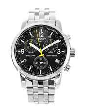 TISSOT PRC 200 T17.1.586.52 BLACK STEEL CHRONOGRAPH MENS WATCH  RRP £310