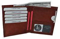 Hipster Genuine Leather Large Brown Credit Card Id Men's Wallet New