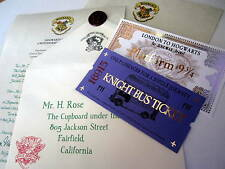 Hogwarts Acceptance Letter, Hogwarts Express Ticket, & Knight Bus Ticket