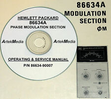 HP Hewlett Packard 86634A Phase Modulation Sect Ops & Service Manual w/Schematic