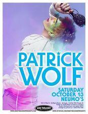Patrick Wolf 2007 Gig Poster Seattle Washington Concert